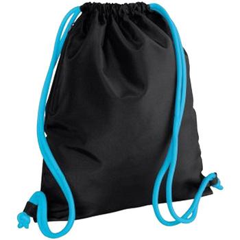 Bolsos Niños Mochila de deporte Bagbase BG110 Negro/Azul surf