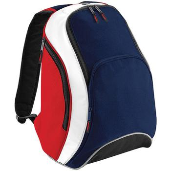 Bolsos Mochila Bagbase BG571 Azul marino/rojo/blanco