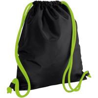 Bolsos Niños Mochila de deporte Bagbase BG110 Negro/Verde lima