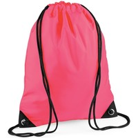 Bolsos Niños Mochila de deporte Bagbase BG10 Rosa fluorescente
