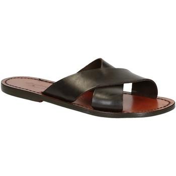 Zapatos Hombre Sandalias Gianluca - L'artigiano Del Cuoio 560 D MORO CUOIO Testa di Moro