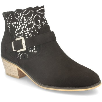 Zapatos Mujer Botines Flyfor J120 Negro