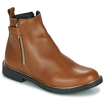 Zapatos Niña Botas de caña baja GBB XIANA Marrón