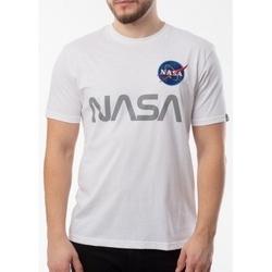 textil Hombre Camisetas manga corta Alpha Nasa Reflective T blanco