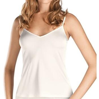 textil Mujer Tops / Blusas Hanro Camiseta  Satin Deluxe 071063 Blanco