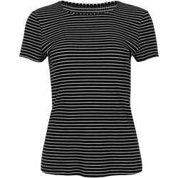 textil Mujer Camisetas manga corta Lisca Romance  Camiseta de manga corta en la mejilla Pearl Black