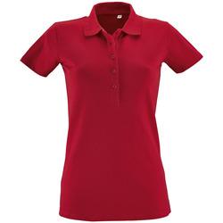 textil Mujer polos manga corta Sols PHOENIX WOMEN SPORT Rojo