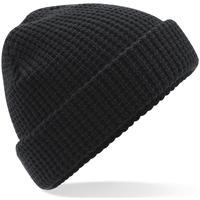 Accesorios textil Gorro Beechfield Waffle Knit Negro