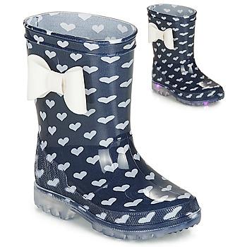 Zapatos Niña Botas de agua Be Only AMOUR FLASH Marino