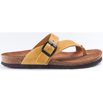Zapatos Mujer Sandalias Interbios Sandalias  7119 Mostaza Amarillo