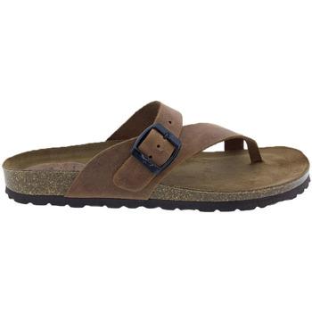 Zapatos Mujer Sandalias Interbios Sandalias  7119 Cuero Marrón