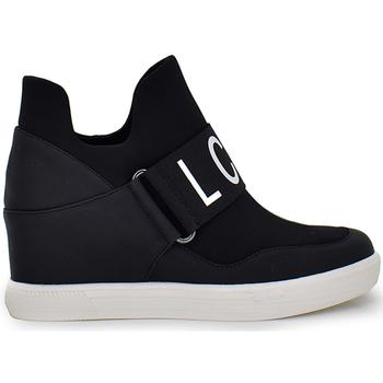 Zapatos Mujer Zapatillas altas Exé Shoes SNEAKER CUÑA BLACK IRIS-010 Color Negro