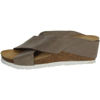 Zapatos Mujer Zuecos (Mules) Riposella C81 Marrón Taupe
