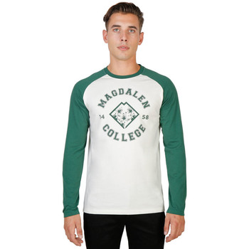 textil Hombre Camisetas manga larga Oxford University - magdalen-raglan-ml Verde