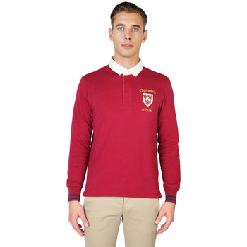 textil Hombre polos manga larga Oxford University - queens-polo-ml Rojo