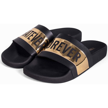 Zapatos Hombre Chanclas Thewhitebrand Whatever gold Negro
