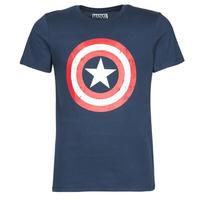 textil Hombre Camisetas manga corta Yurban CAPTAIN AMERICA LOGO Marino