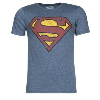 textil Hombre camisetas manga corta Casual Attitude SUPERMAN LOGO VINTAGE Marino