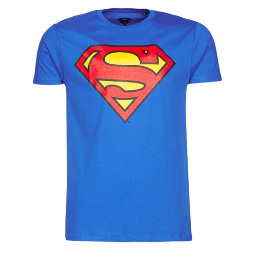 textil Hombre Camisetas manga corta Yurban SUPERMAN LOGO CLASSIC Azul