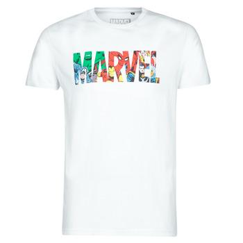 textil Hombre Camisetas manga corta Yurban MARVEL HERO LOGO Blanco