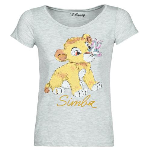 textil Mujer Camisetas manga corta Yurban THE LION KING Gris