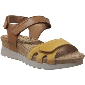 Zapatos Mujer Sandalias Mobils By Mephisto Quirina Amarillo nobuck