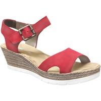 Zapatos Mujer Sandalias Rieker 619b3 Terciopelo rojo