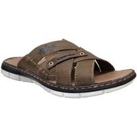 Zapatos Hombre Zuecos (Mules) Rieker 25199 Castaño