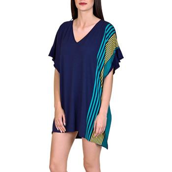 textil Mujer Túnicas Lisca Caftán de playa Dominica azul Azul