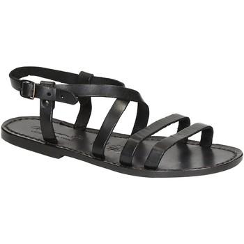 Zapatos Mujer Sandalias Gianluca - L'artigiano Del Cuoio 531 D NERO CUOIO nero