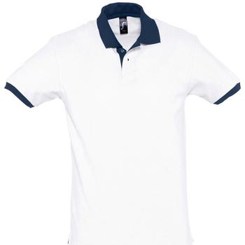 textil polos manga corta Sols PRINCE COLORS Blanco