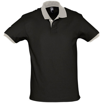textil Polos manga corta Sols PRINCE COLORS Negro