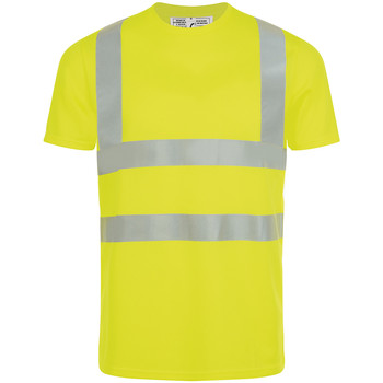 textil Hombre camisetas manga corta Sols MERCURE PRO VISIBLITY WORK Amarillo