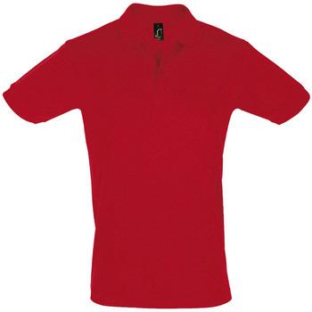 textil Hombre polos manga corta Sols PERFECT COLORS MEN Rojo