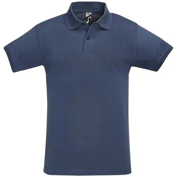 textil Hombre Polos manga corta Sols PERFECT COLORS MEN Azul