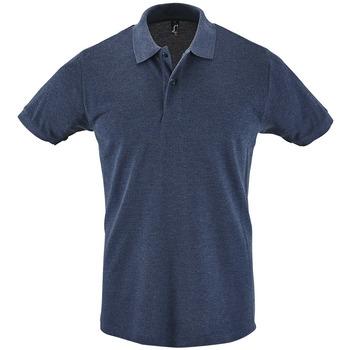 textil Hombre polos manga corta Sols PERFECT COLORS MEN Azul