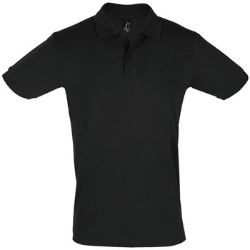 textil Hombre Polos manga corta Sols PERFECT COLORS MEN Negro
