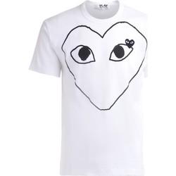 textil Hombre Camisetas manga corta Comme Des Garcons Camiseta  de algodón blanco con Blanco