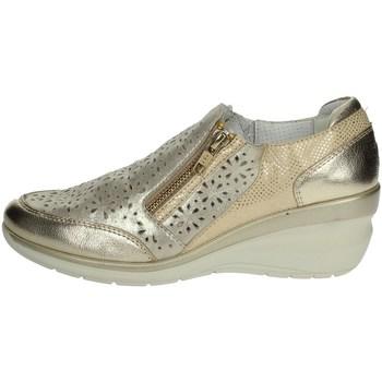 Zapatos Mujer Mocasín Riposella C212 Platino