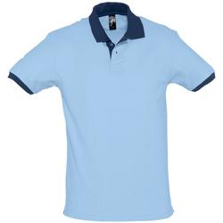 textil Hombre Polos manga corta Sols PRINCE COLORS Azul