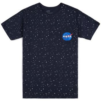 textil Hombre Camisetas manga corta Alpha T-shirt  Starry T noir/bleu/blanc