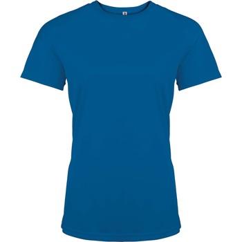 textil Mujer Camisetas manga corta Proact T-Shirt femme manches courtes  Sport bleu marine