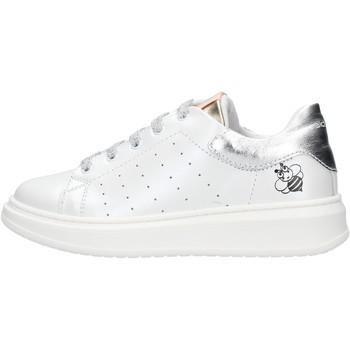 Zapatos Niño Zapatillas bajas Balducci - Sneaker bianco/argento STAN1003 BIANCO