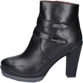 Zapatos Mujer Botines Guardiani botines cuero negro
