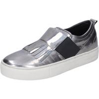 Zapatos Mujer Slip on Crime London slip on cuero sintético plata