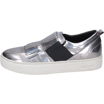 Zapatos Mujer Slip on Crime London BN383 plata