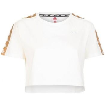 textil Mujer camisetas manga corta Kappa   Camiseta 222 Banda Apua, Blanca   KAP_303WGQ0 AAJ blanc