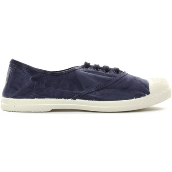 Zapatos Mujer Tenis Natural World Tennis en toile Aspect Délavée 677-102E Marino Enz Azul