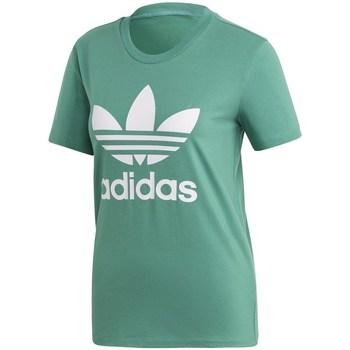 textil Mujer Camisetas manga corta adidas Originals Trefoil Tee Verdes