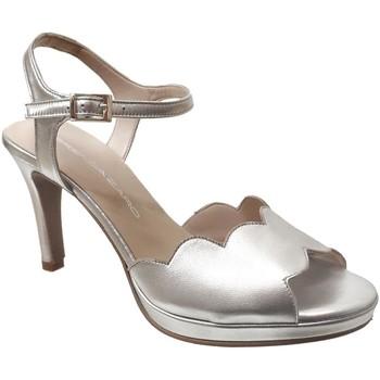 Zapatos Mujer Sandalias Brenda Zaro F3229 Platino metálico